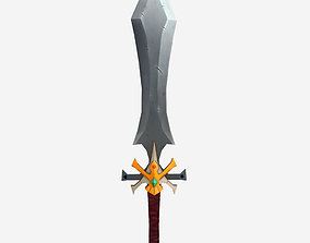 Low poly sword 3D model realtime