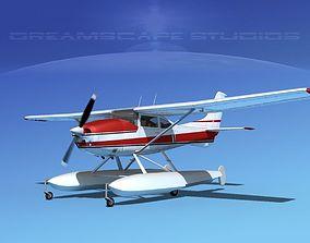 3D Cessna 182 Skylane Seaplane V01