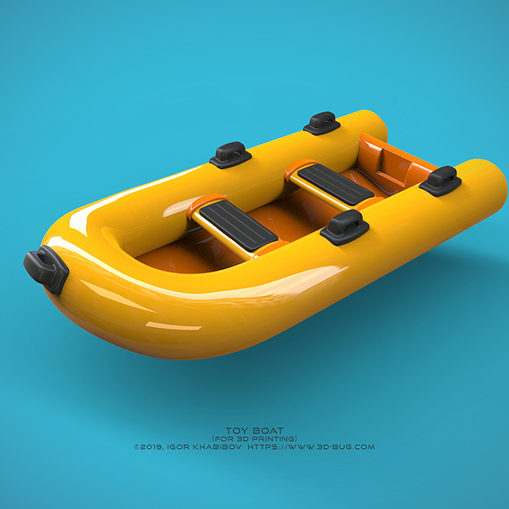 Toy boat. Product 3D design.