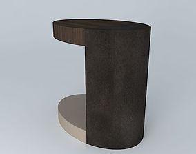 3D model LUMA Silo side table w/shelf