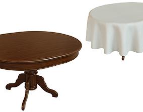 3D asset Wood table 1500