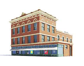 exterior Brick Building 3D Model