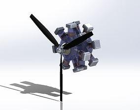 3D model Radial Engine radial
