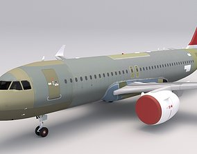 Swiss Air A320 Unpainted 3D model