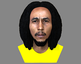 Bob Marley bust ready for full color 3D printing