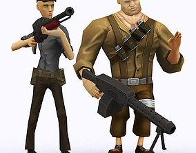 3D model Brutal army squad pack
