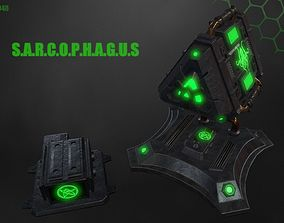 3D model game-ready SARCOPHAGUS
