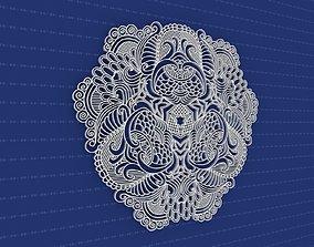 Mandala yoga geometric 3D