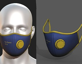 3D model Gas mask protection futuristic isolated