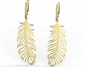 3D print model Feather earrings 2