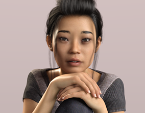 3D model rigged Yumeko - Beautiful Asian Female