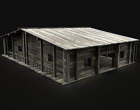 3D asset MEDIEVAL SAWMILL WAREHOUSE STORAGE WORKSHOP 1