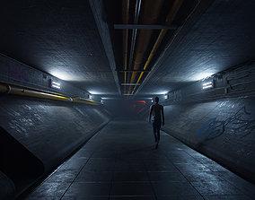 Underground Tunnel Blender Source File 3D model