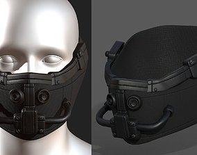Gas mask respirator scifi game-ready 1