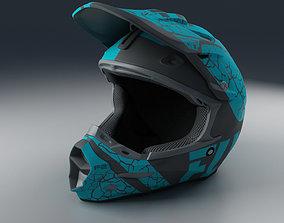 3D model PBR Moto Helmet Blue