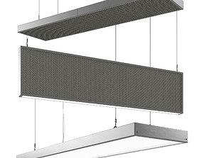3D model Acoustic ceiling panel downlight