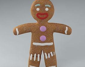 3D model Gingerbread Man 01