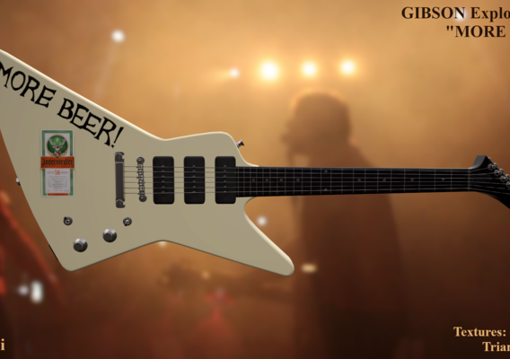 "1984 Gibson Explorer ""MORE BEER!"""
