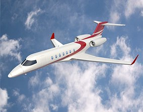 Bombardier Learjet 85 private jet 3D