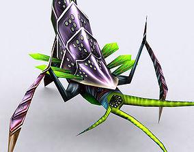 animated 3DRT - Insectoid Monster Boss