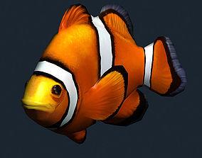 3DRT - Sealife - Clownfish animated