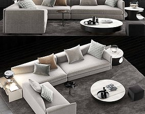 Minotti Granville Sofa 5 3D model