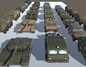 3D model Russian Military Vehicles 29 Prefabs I 4