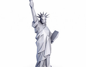 The Statue of Liberty Low Poly v2 3D asset