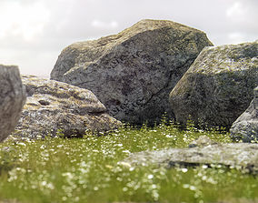 Photorealistic Rocks and Stones 3D model