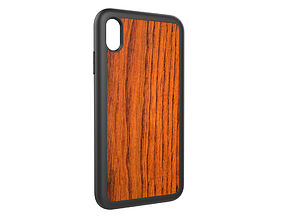 Iphone XS Max wood case 3D print model