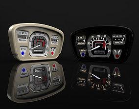 3D model car dashboard ZAZ-Yalta 1961-1969