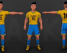 3D asset Soccer player