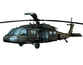 Military Helicopter Low Poly 3D asset