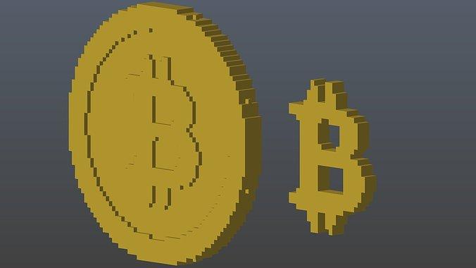 bitcoins-voxel-3d-model-obj-3ds-fbx-stl-