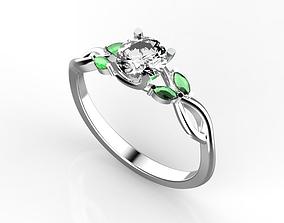 Engagement ring 8 3D print model