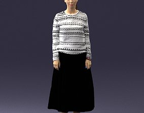 Girl in a sweater and black skirt 0319 3D Print Ready