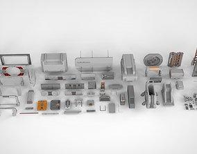 3D model Sci-Fi architecture Elements collection 15