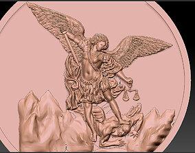 Archangel saint Michael Bas-Relief pendant 3D print