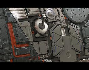 3D Scifi Techplate Texture Set