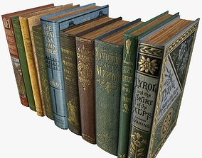 3D asset Old Books Type 4 Low Poly