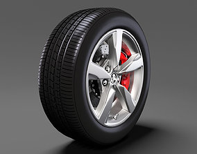 3D model Holden Commodore SV6 2017 wheel