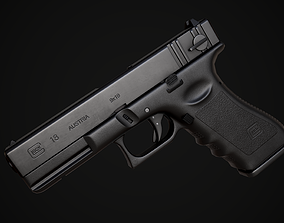 Glock 18 gameready asset with textures realtime