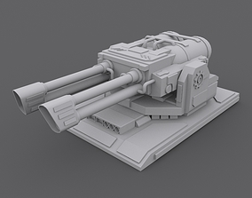 3D model game-ready Turret