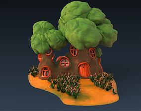3D asset cartoon building 03