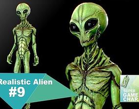 Realistic Alien 9 3D asset