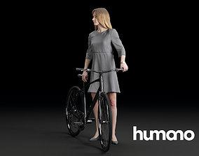 Humano Biking Woman 0720 3D model