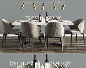 Modern Dinning Set 3 3D model
