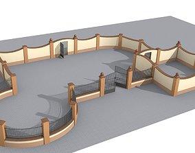 Modular fences building set 3D model