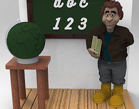 TEACHER FIGURINE 3D print model