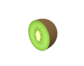 3D model low-poly Kiwi Fruit